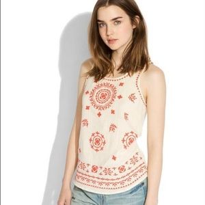 Lucky Brand Pacifica Embroidered Tank Top